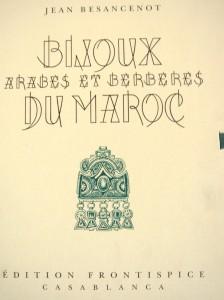 Bijoux arabes et berbères-Besancenot