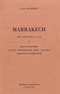 Marrakech des origines à 1912-Deverdun