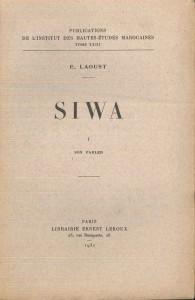 Siwa-son parler- E. Laoust