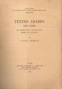 Textes arabes des Zaer-Loubignac