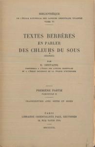 Textes berberes chleuh du Sous