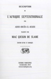 Description de l Afrique septentrionale-El Bekri