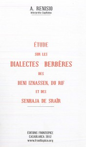 Etude sur le Dialecte Beni Iznassen, du Rif-Renisio